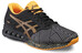 asics fuzeX Shoe Men Aluminum/Hot Orange/Black